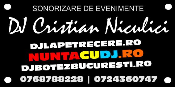DJ MC CUNUNIE NUNTA BUCURESTI - DJ CRISTIAN NICULICI - 0768788228 - 0724360747